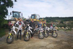 Enduro Training im Steinbruch